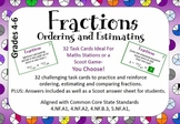Fraction Task Cards. 32 Cards for ordering, estimating and
