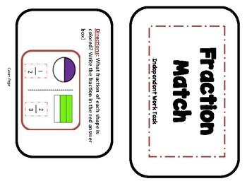 Fraction Independent Math Task Cards