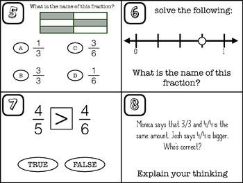 Fraction Task Cards - 3rd