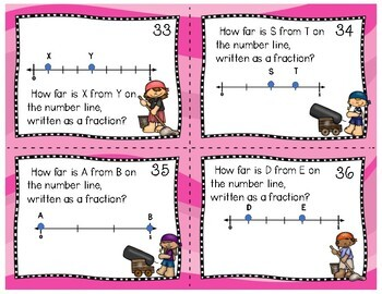 #hotwinter Fraction Task Cards (3rd grade)