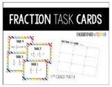 Fraction Task Cards - 4th Grade Math
