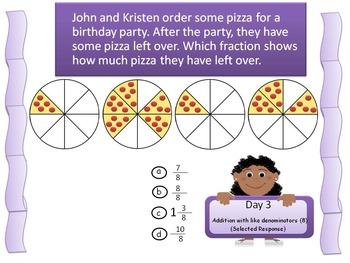 Fraction Task Cards Adding Fractions 4.NF.B.3