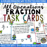 Fractions All Operation Task Cards & Game Math Review