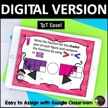 Fraction Task Cards ( BUNDLE of Comparing Fractions -Set A-D)