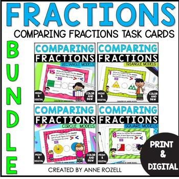 Comparing Fractions Task Cards Bundle