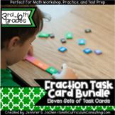 Fraction Task Cards Bundle   Math Workshop   Intervention