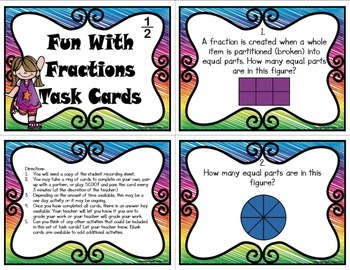 Fraction Task Cards (Common Core Aligned)