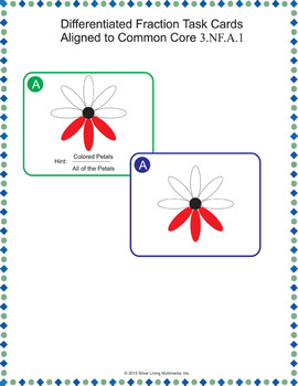 Fraction Task Cards - Common Core Aligned and Differentiated