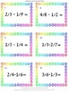 Fraction Task Cards Common and Uncommon Addition Subtraction and KEYS
