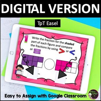 Fraction Task Cards (Comparing Fractions -Set A)