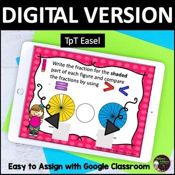 Comparing Fractions Task Cards (Set C)