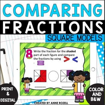 Fraction Task Cards (Comparing Fractions -Set D)