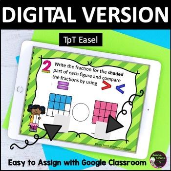 Comparing Fractions Task Cards (Set D)