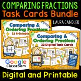 Comparing Fractions Task Cards Digital and Printable Bundle