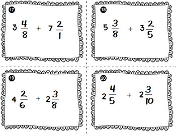 Multiplying and Dividing Fractions Task Cards - Adding and Subtracting Fractions