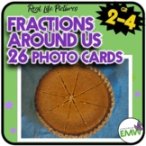 Fractions Real life Picture Cards Math
