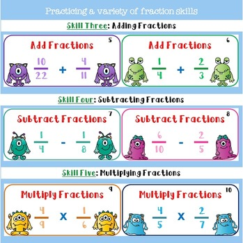 Fraction Task Cards Freebie