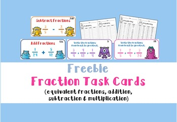 Fraction Task Cards Freebie