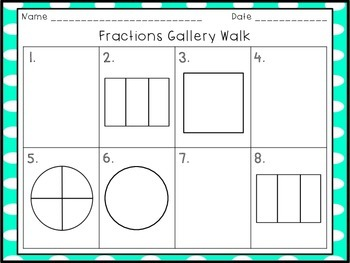 Fraction Task Cards Gallery Walk