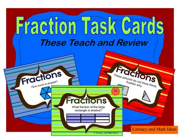 Fraction Task Cards:  Guided Practice Level 1