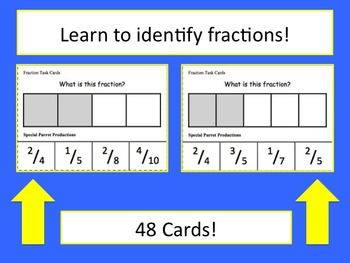 Fraction Task Cards - Half to Tenths
