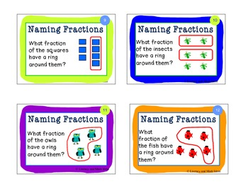 Fraction Task Cards:  Identifying Fractions