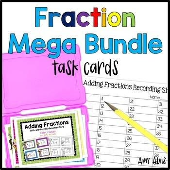 Fraction Task Cards MEGA Bundle