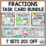 Fractions Task Cards | Fractions Word Problems Mega Bundle