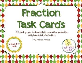 Fraction Task Cards - Mixed Operations Review