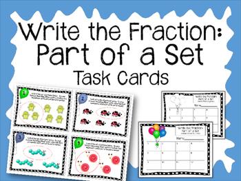 Fraction Task Cards. Part of a Set.  Fractions Math Center
