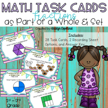 Fraction Task Cards: Parts of a Whole & Set
