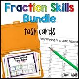 Fraction Task Cards - Skills Bundle