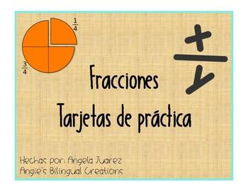 Fraction Task Cards/Spanish