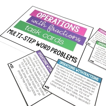 Operations with Fractions Task Cards