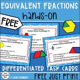 FREE Equivalent Fraction Task Cards Hands-On