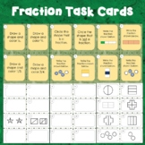 Fraction Task Cards for Halves, Thirds, and Fourths