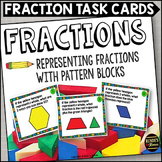 Fraction Task Cards with Pattern Blocks