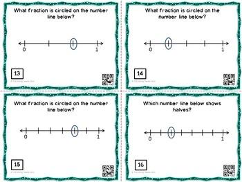 Fraction Task Cards with QR Codes Bundle