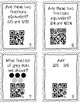 Self Checking Fraction Task Cards with QR Codes (Free Version)