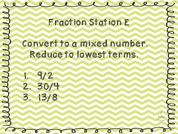 Fraction Task Station Cards