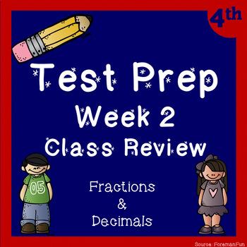 Fraction Test Prep Class Review ~ 4th Grade Math ~ CCSS