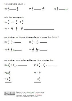 Fraction Test & Review