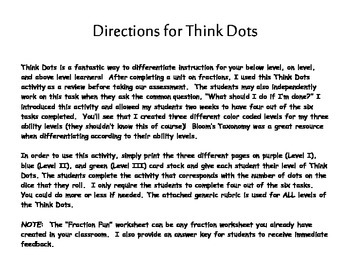 Fraction Think Dots