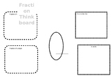 Fraction Thinkboard - different ways of showing fractions
