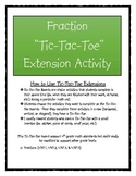 Fraction Tic-Tac-Toe Enrichment Activity