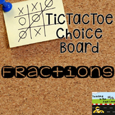 Fraction TicTacToe Choice Board Extension Activities