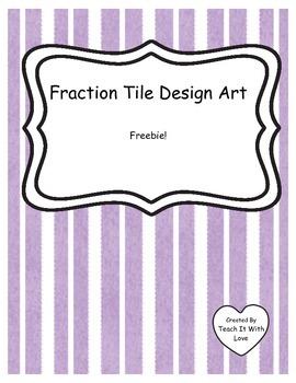 Fraction Tile Design Art
