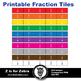 Fraction Tile Set - 562 Images - Commercial Use OK - Z is