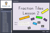 Fraction Tiles 2 (SCORM) Identifying Basic Fractions on a