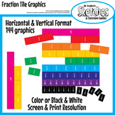 Fraction Tiles Graphics and Clipart for Interactive Boards and Printables